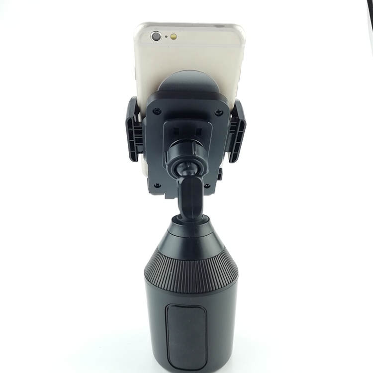 Portable car dink mount holder for any size smartphone in cup, adjustable cup holder phone mount clip bracket for iphone