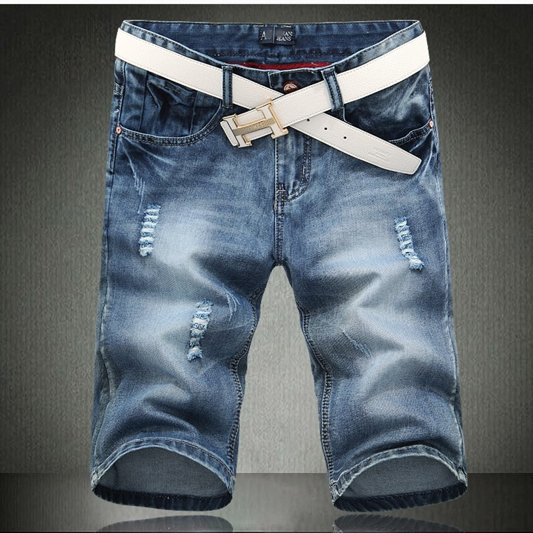 new 2014 fashion ripped baggy jeans men's jeans shorts ...