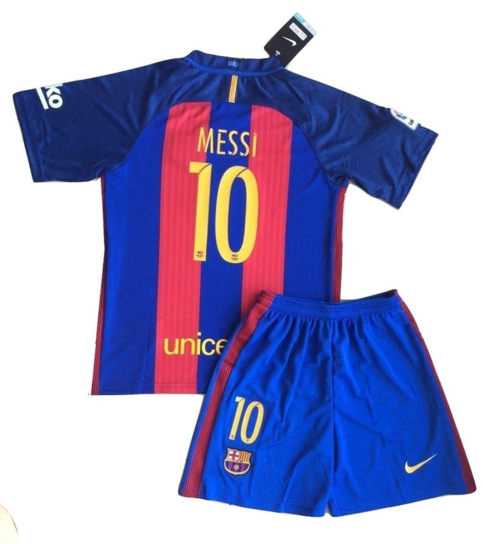 Buy 2016 2017 Barcelona Home  10 Messi Kids Soccer Wear Shorts Socks ... 32d148d13