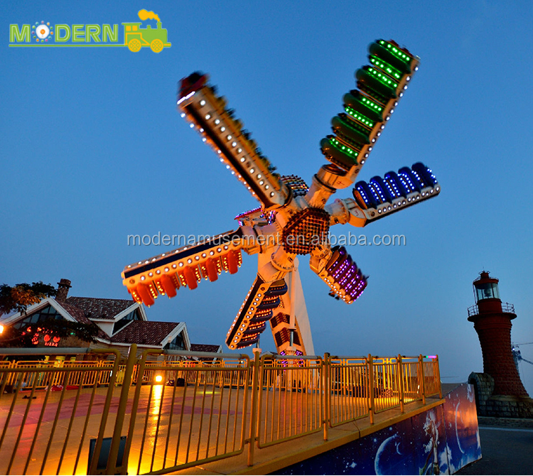 thrilling adults carnival rides speed windmill ride