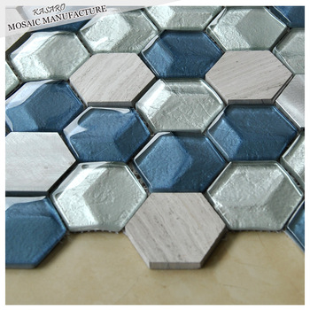 Backsplash Gl Tile Hexagon Tiles
