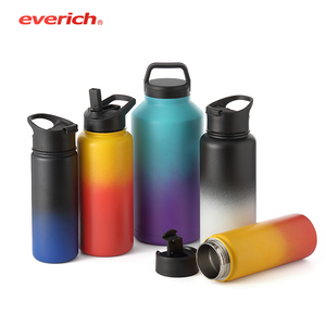 Hot Sale Low MOQ Everich OEM Double walled Insulated 18/8 Stainless Steel Vacuum Hydro Flask Sport Water Bottle