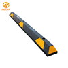 WHEEL STOP PLASTIC BLACK AND YELLOW ROAD SAFETY PARKING WHEEL STOPS PARKING CURBS