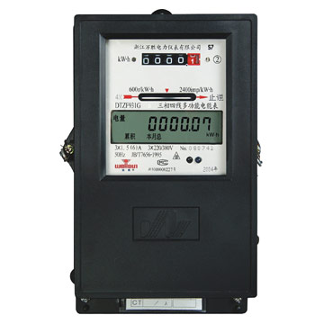 Electronic Three-Phase Electric Energy Meter