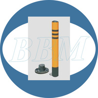 steel collapsible reflective road post