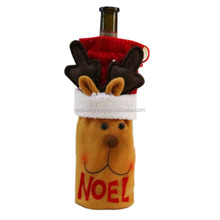 Wine Bottle Cover Christmas Pouch Santa Claus scarf Decor Gifts Tableware Decoration