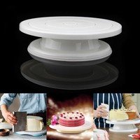 Plastic cake decorating stand Revolving Cake Stand cake revolving turntable