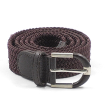 FM brand wholesale black Alloy buckle fashion canvas custom belts for men your logo men's elastic braided belt