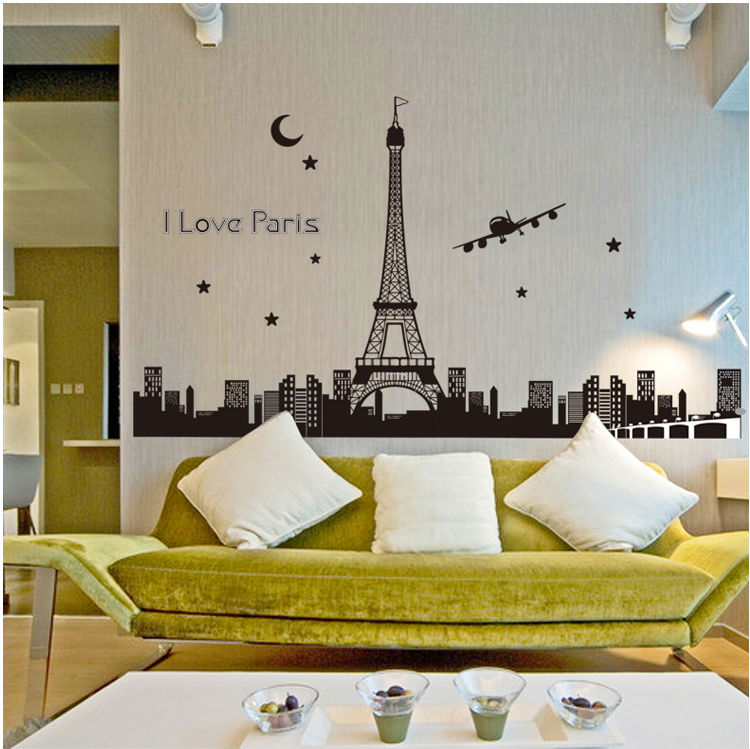 time in paris glow in the dark sticker wall sticker, view glow in