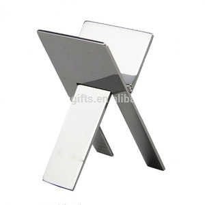 Customize Practical Gadgets Silver High Quality Stainless Steel Foldable Stand Showing Portable Metal Cigar Ashtray Holder