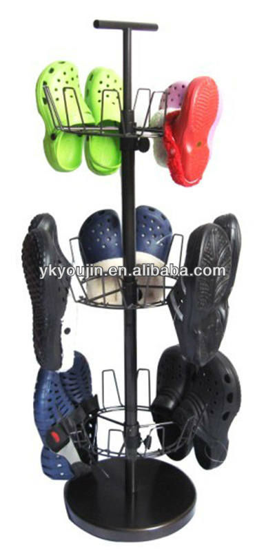 3 tier revolving shoe rack