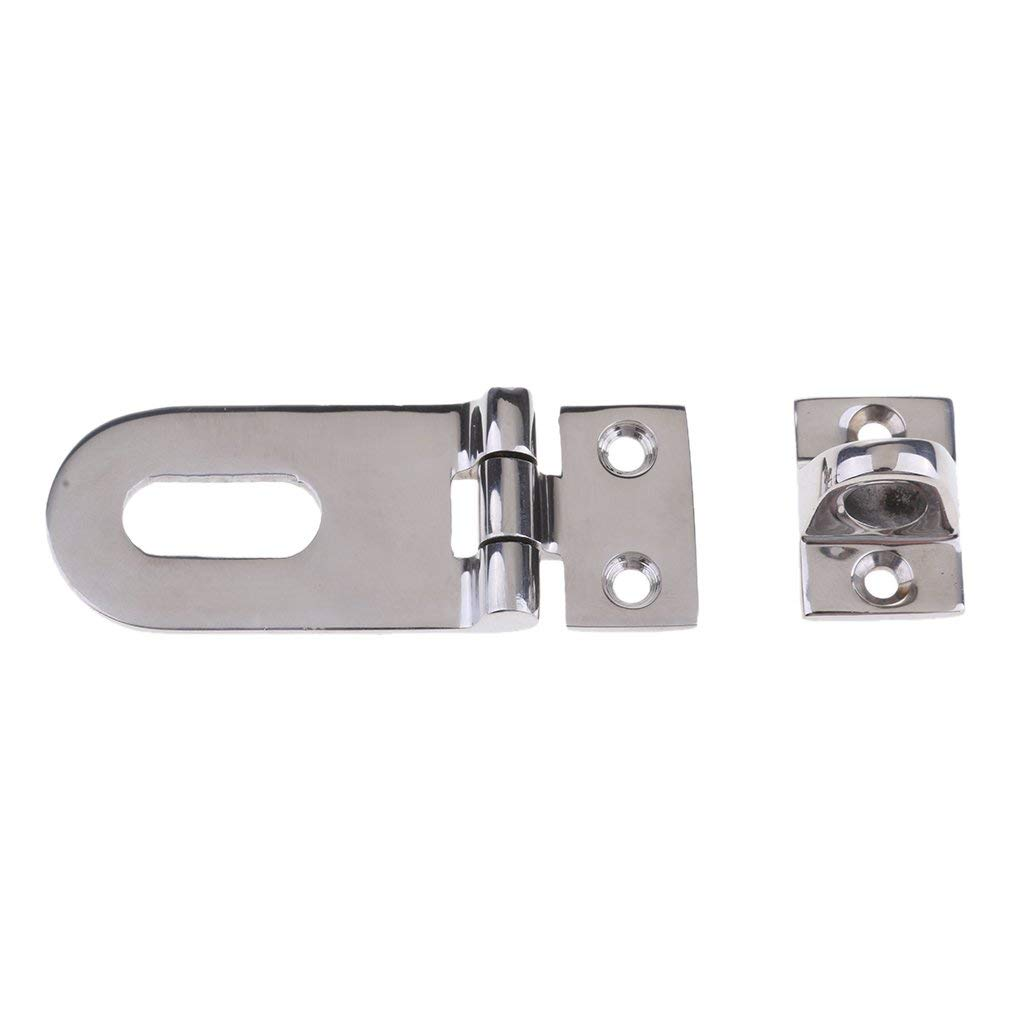 Heavy Duty Stainless Steel Swivel Lock Hasp Latch Boat Caravan Hardware 65mm