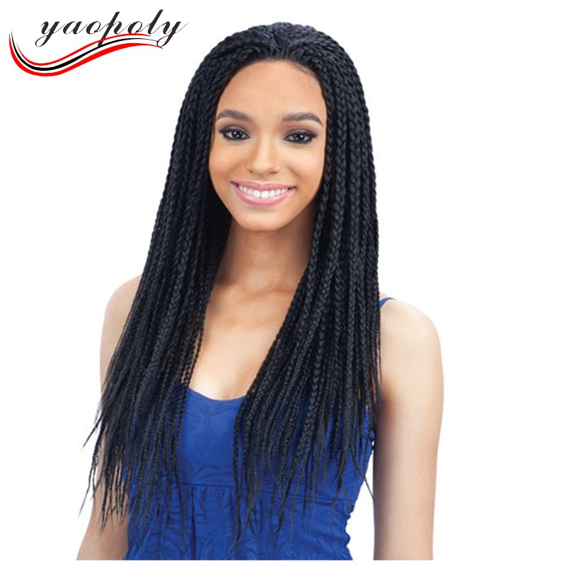 113263d41ed Stock Factory Wholesale Prices Synthetic Heat Resistant Twist Braid Wigs  For Black Woman 3x Braid Front Lace Wigs Box Braiding - Buy Synthetic Twist  ...