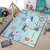 Wholesale price double side waterproof plush baby care play mat