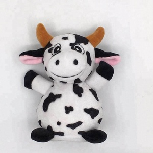 Customized Recording&Repeating and shaking Animals Plush Toy Milk Cow  Battery-Operated Plush Toy