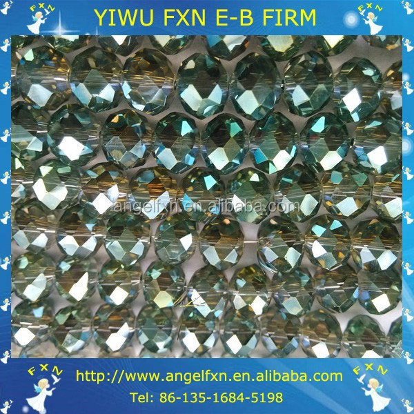 large faceted glass beads factory in china