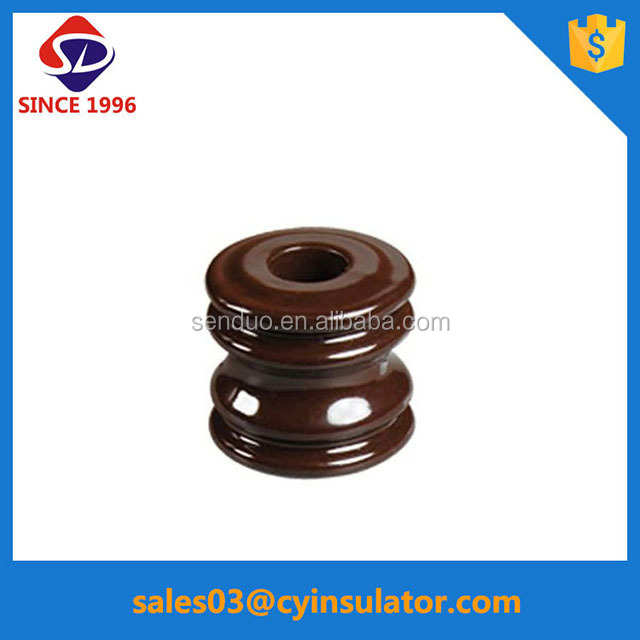 all type electrical porcelain reel/spool insulator for low voltage