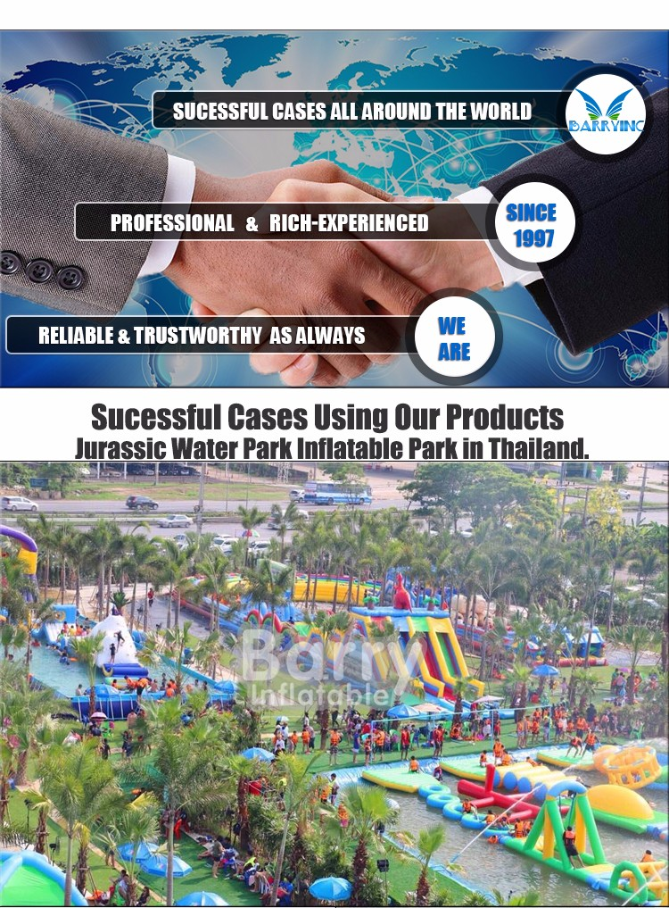 Hot inflatable gorilla pool slide ,Giant inflatable water park with round pool for adults and kids