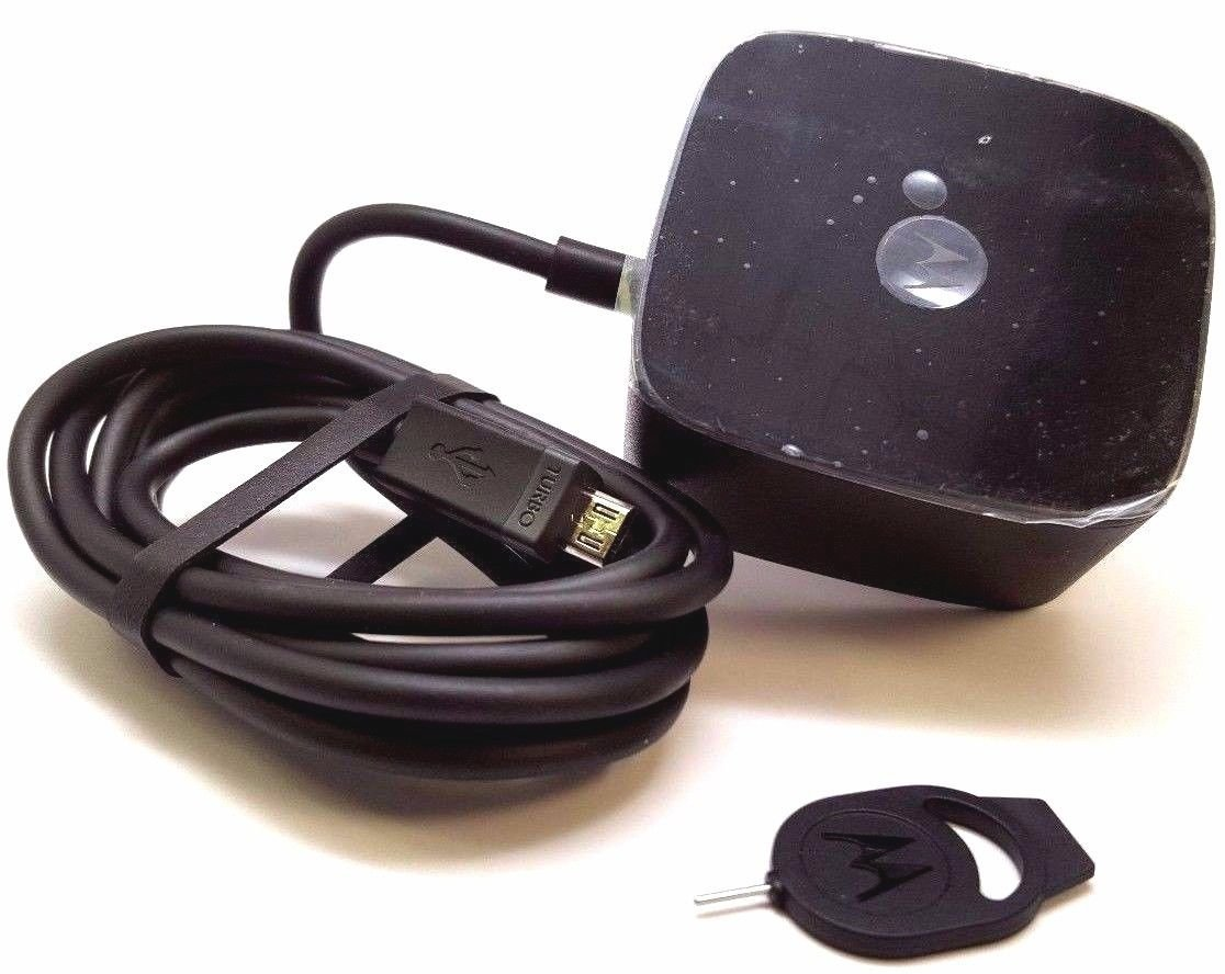OEM Motorola TURBOPOWER Charger W/Motorola SIM Ejector -Super Fast Rapid Charging Charger