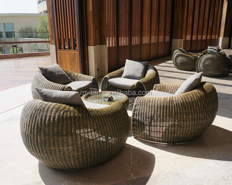 China wholesale modern new design wicker rattan round for Wholesale garden furniture