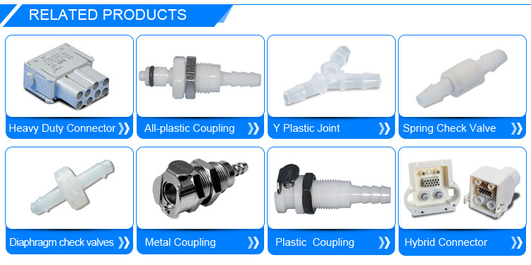 mini plastic quick disconnect luer type twist to connect couplings