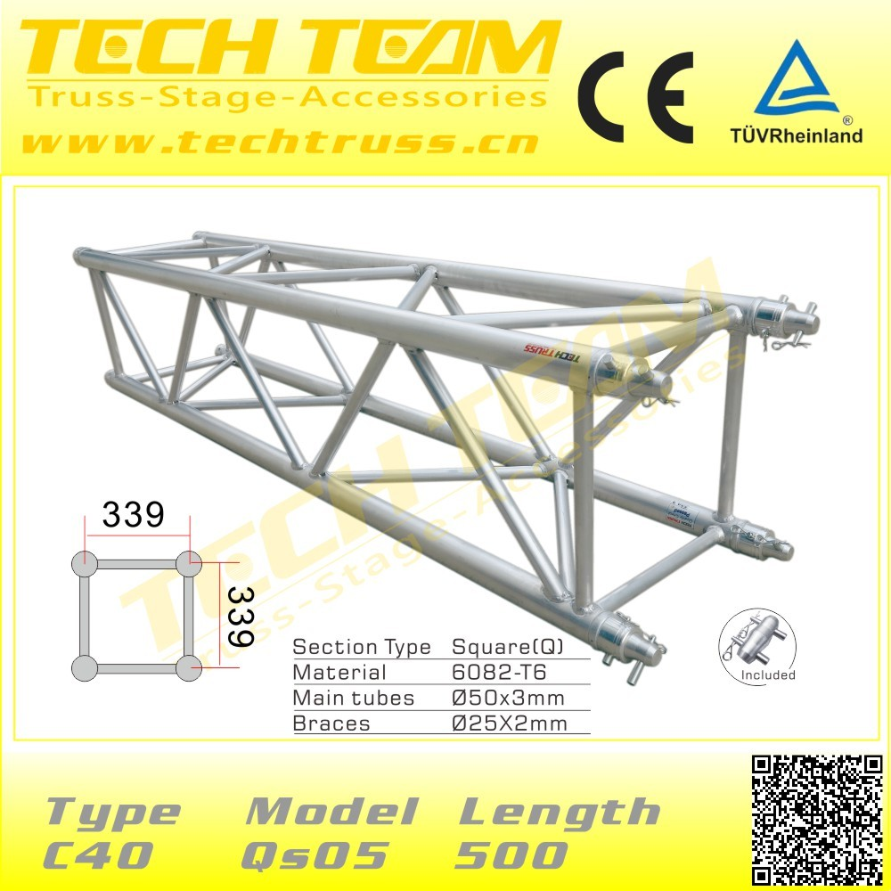 D66 rs40 aluminum truss roof truss design on sale aluminum for Buy truss