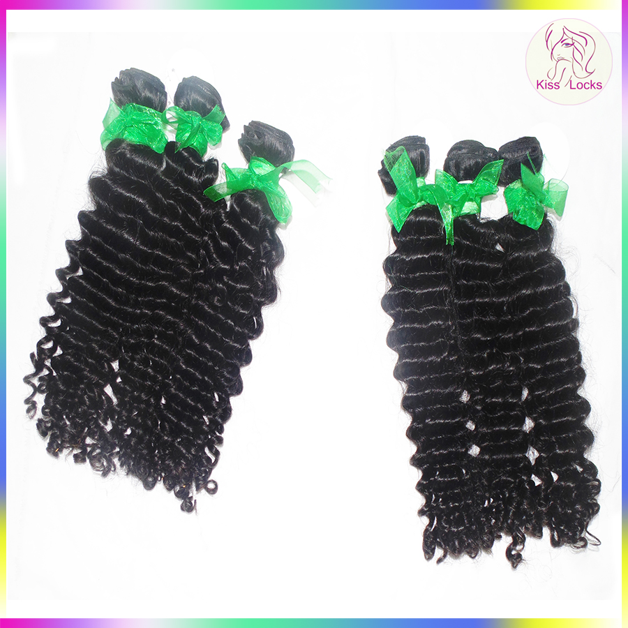 Fantastic Weave Supplier 10A Raw Virgin Curly Weave Cambodian Deep wave Hand Tied Wefts
