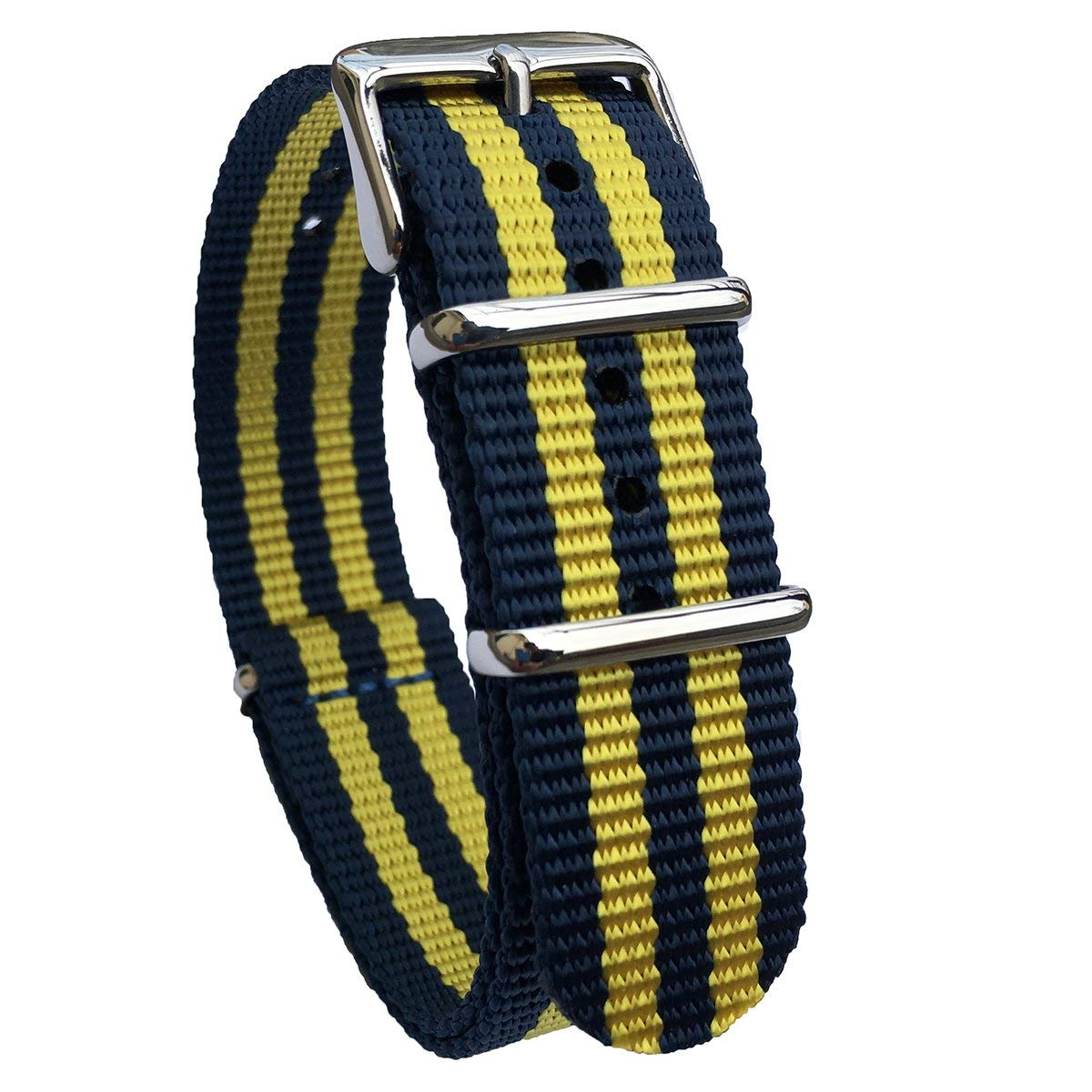 3bbcd014c82 Get Quotations · Leesting Nylon NATO ZULU 18mm 20mm 22mm Premium Ballistic  Colorful Watch Strap Replacement Men Women Band