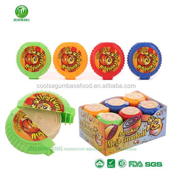 Real big bubble type rolls gum assortment:12rolls-per box