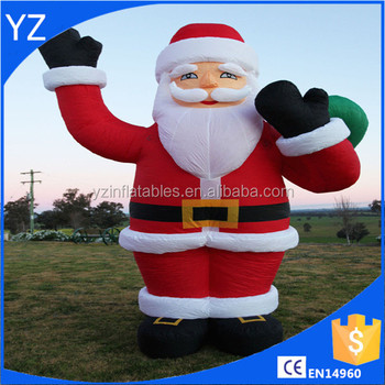 Christmas Inflatables Outdoor large inflatable santa snowman outdoor airblown xmas christmas decoration figure 4m Giant Christmas Santa Inflatable Outdoor Decoration Commercial Quality