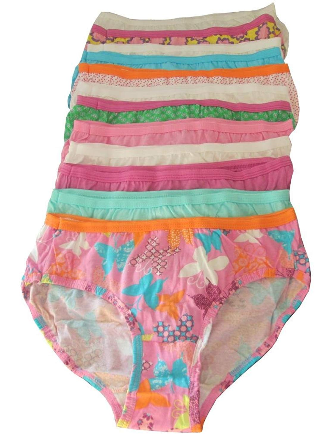 ee51d20690e44 Hanes girls No Ride Up Cotton TAGLESS Hipsters 9-Pack(HPP9AS)-Assorted