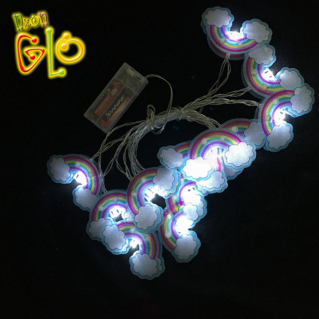 2019 Hot nieuwe collectie battery operated rainbow led string licht
