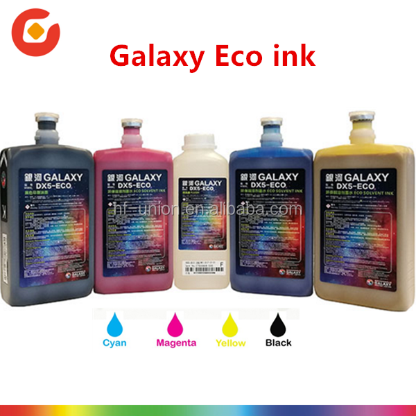 Original Compatible Taiwan Made Galaxy Dx5-eco Ink/dx5 Eco Solvent  Ink/solvent Based Printing Ink - Buy Dx5 Eco Solvent Ink,Eco Solvent Ink  For