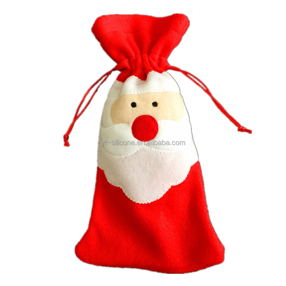 Fabrics Christmas Gift Santa Claus Wine Bag