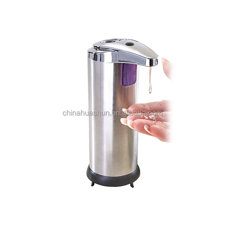 2015 HUASHUN 250ml Stainless Steel auto soap dispenser