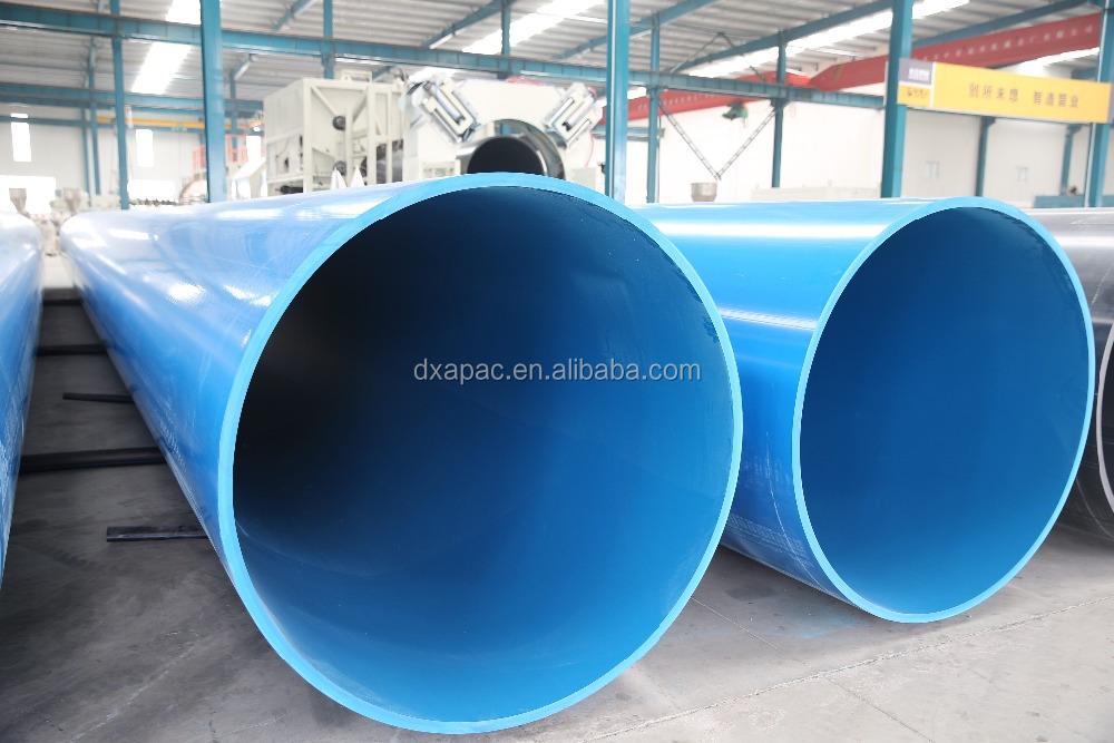 Grande di metro do tubo pvc tubos de plástico id