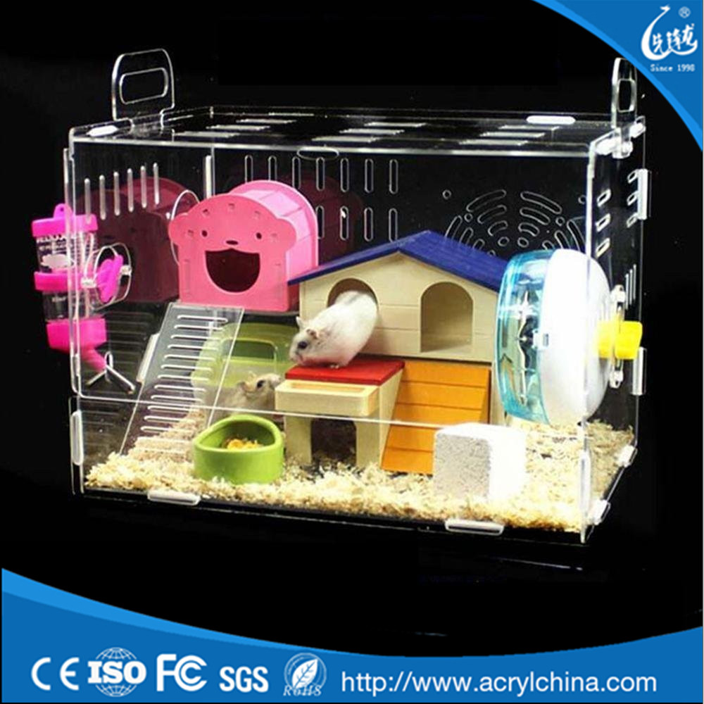 Mice Mouse Gerbil Castle Rat House Acrylic Hamster Cage