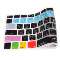 LogicPro X Spanish Functional Silicone Keyboard Skin shortcuts keyboard skin For Macbook Pro 13 Retina for macbook pro 15