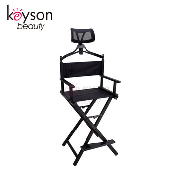 Keyson Folding Aluminum Director Chair With Side Table Portable Makeup Customized Logo