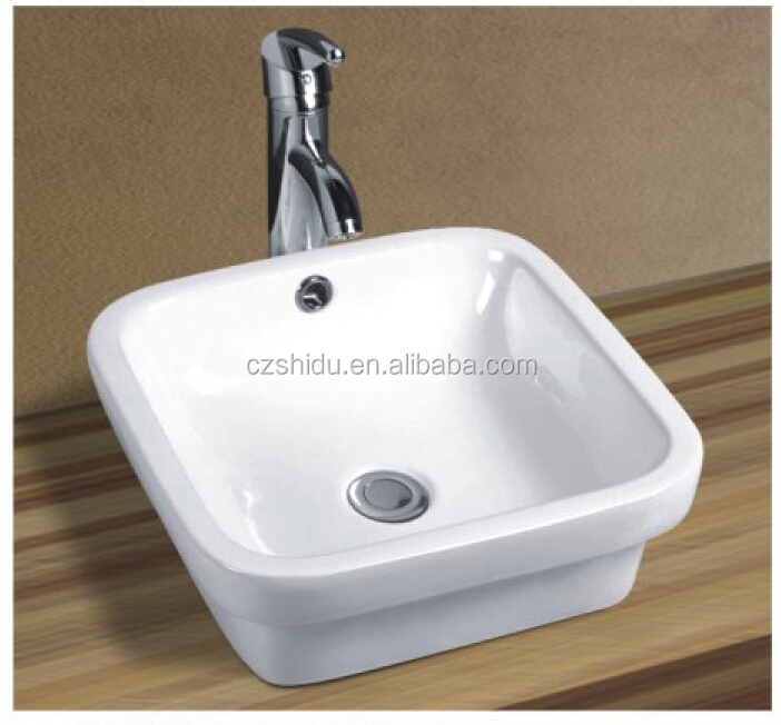 Rectangular Basin Shape and art basin Special Application over counter wash basin