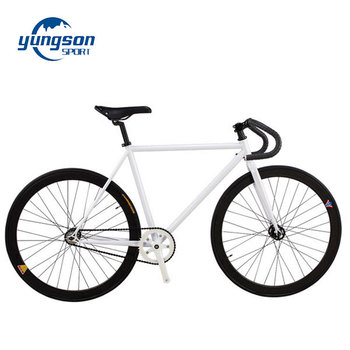 Fixed Gear Bike 700c Single Speed Track Bicycle White Frame Black ...