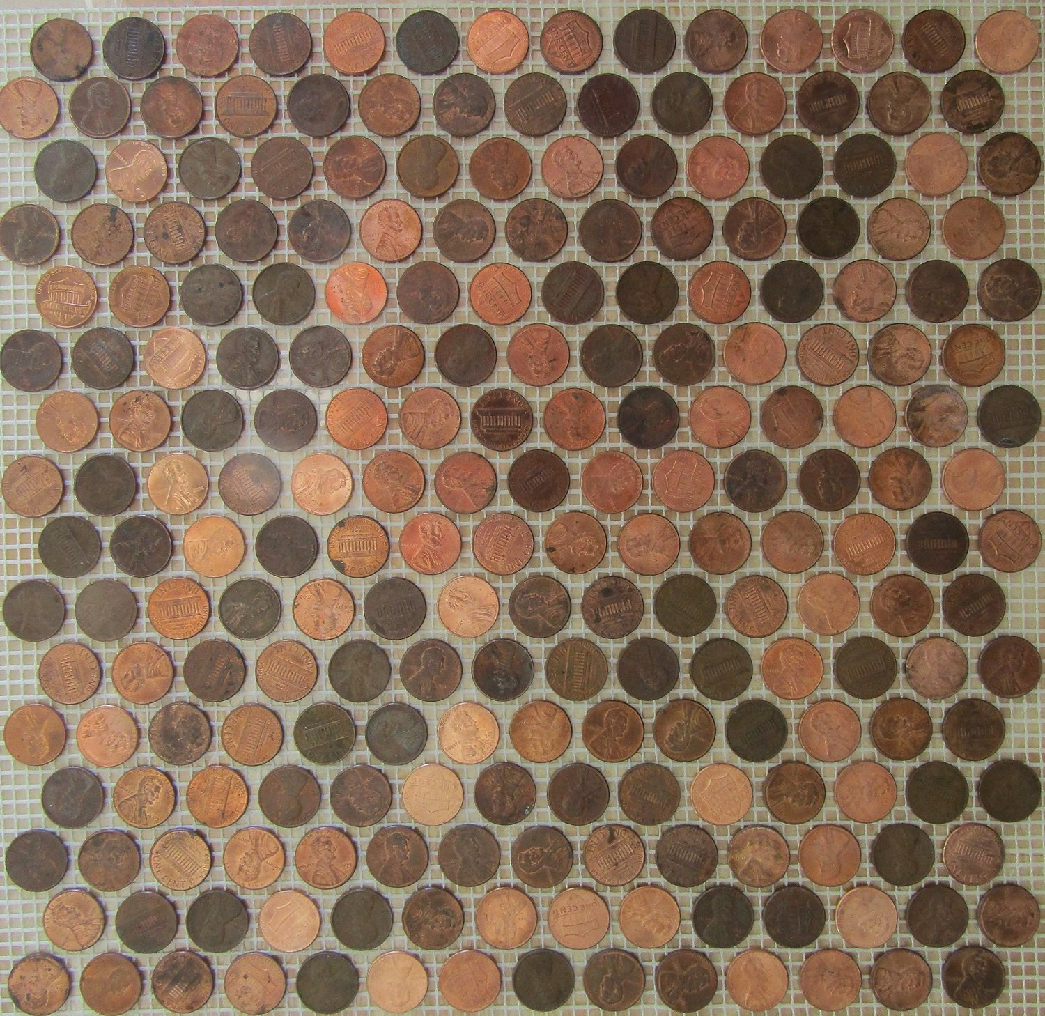 Cheap penny round tile floor find penny round tile floor deals on get quotations copper zinc penny round coin tile sheets for floor or wall art by stone deals dailygadgetfo Image collections