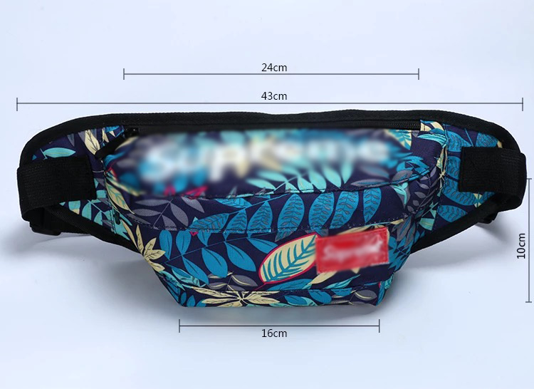 2019 new wholesale custom print fanny pack with your logo printed fanny pack, custom fanny pack