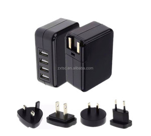 Mobile phone accessories 5V4.2A 4 USB travel charger with Australia standard