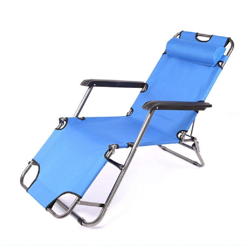 ZLJTYN Zero Gravity Folding Sun Lounger | Foldable Deck Chair Folding Chair, Recliner, Single Folding Bed, Folding Chair, Recliner, Office Nap Bed, Simple Lazy Lounge Chair, Beach Chair 179Cm