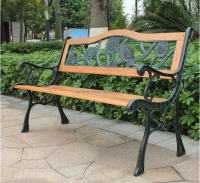 Sun flower back slate garden benches flower pot garden bench wrought iron patio benches