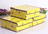 Cheap fancy printed decorative cardboard underwear storage box wholesale (3pcs/set)
