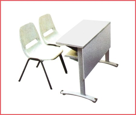 Modern Double Table And Chair school furniture