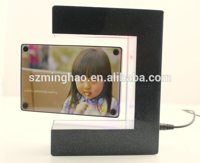 Wholesale cheap acrylic magnetic floating photo picture frame