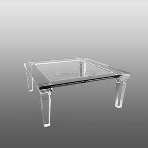 Square Living Room Corner Acrylic Coffee Table Clear Lucite Sofa Center Table
